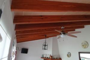 barbacoa en madera de norte
